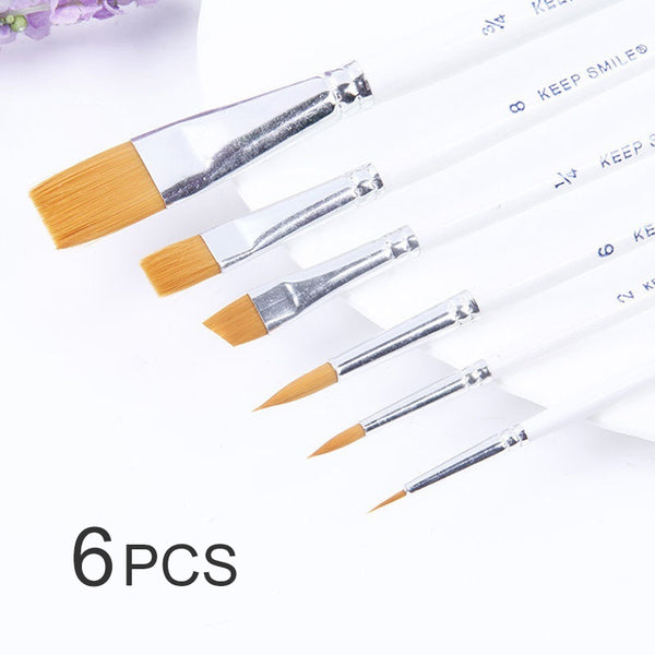 6 Pcs Professional Paint Brushes - BlingPainting