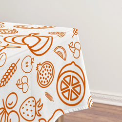 Fall Harvest Thanksgiving Tablecloth D - BlingPainting