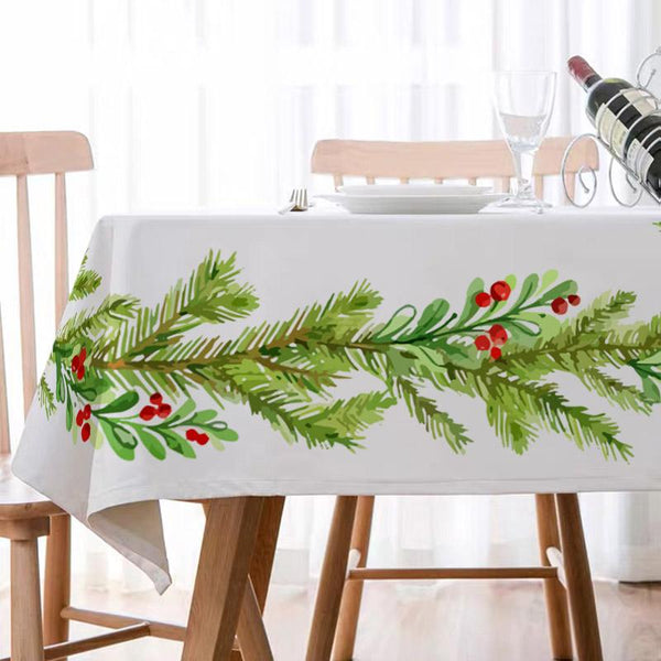 Christmas Decor Waterproof Reindeer Tablecloth