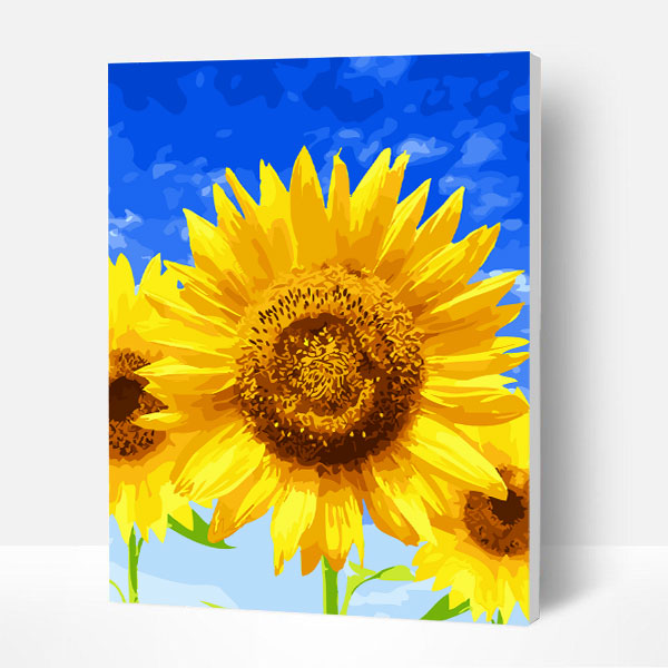 Paint by Number Kit   --  Sunflower under the blue sky