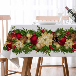 Christmas Decor Waterproof Tablecloth