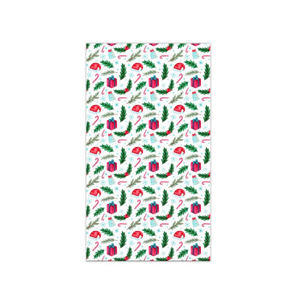Christmas Decor Waterproof Berries & Christmas Hat Tablecloth