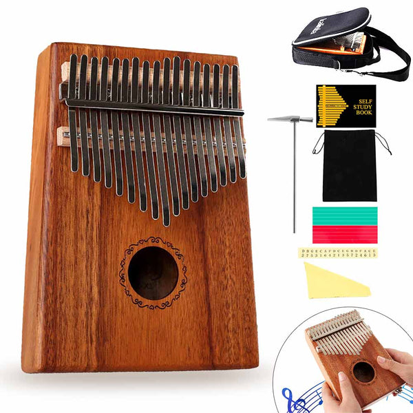 17 Key Kalimba Thumb Finger Piano Therapy Musical Instrument for Adults and Children - BlingPainting