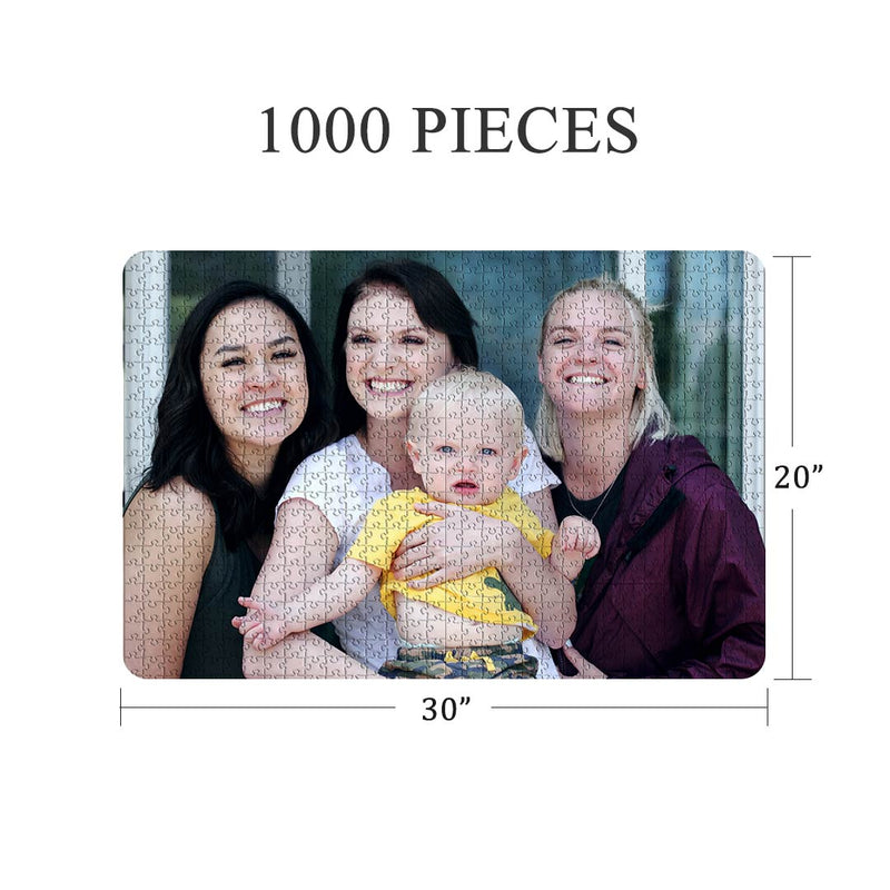 Custom Wooden Photo Jigsaw Puzzle - Creative Gift