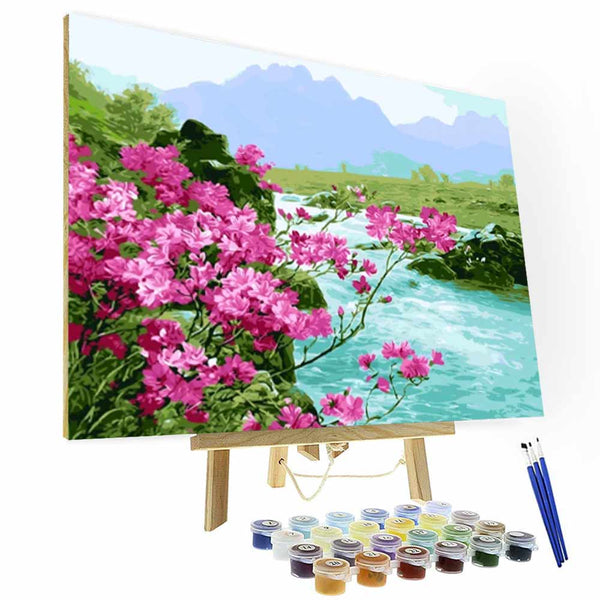 Paint by Number Kit   --  Floret by the river - BlingPainting