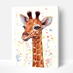 Paint by Numbers Kit for Kids - Cartoon Giraffe