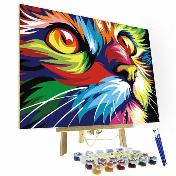 Paint by Number Kit   -- Staring Kitten - BlingPainting