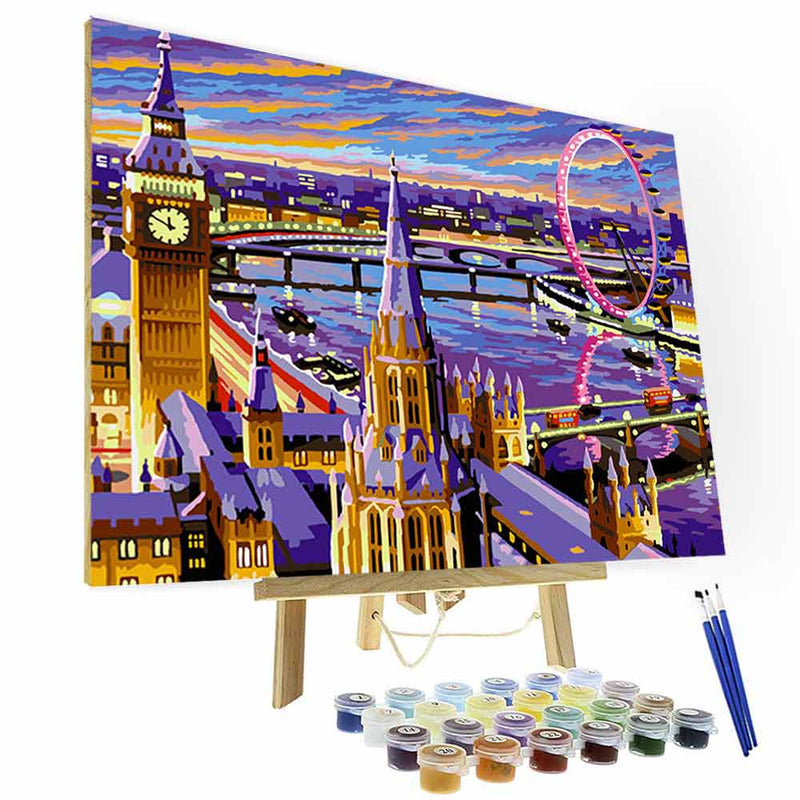 Paint by Numbers Kit - Love in London - BlingPainting