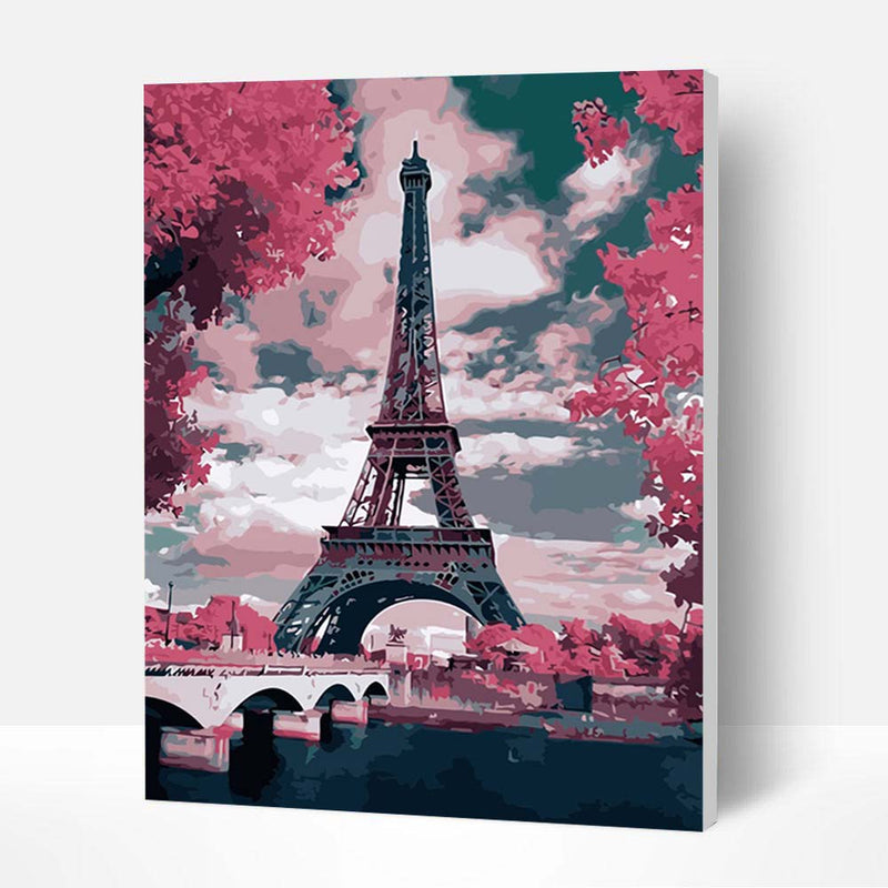 Paint by Numbers Kit - Eiffel tower - BlingPainting