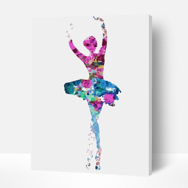 Paint by Numbers Kit - Girl Jumping Ballet - BlingPainting
