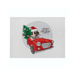 Christmas Decor Red Truck Placemat