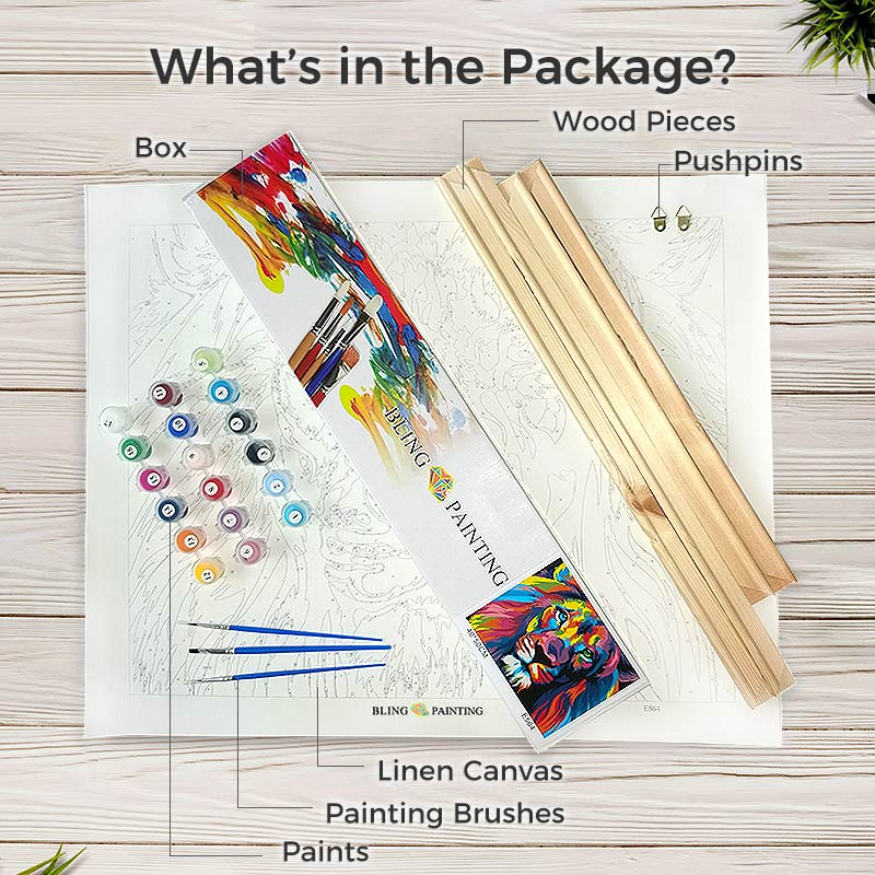 Paint by Numbers Kit -- Hot Air Balloon Trip