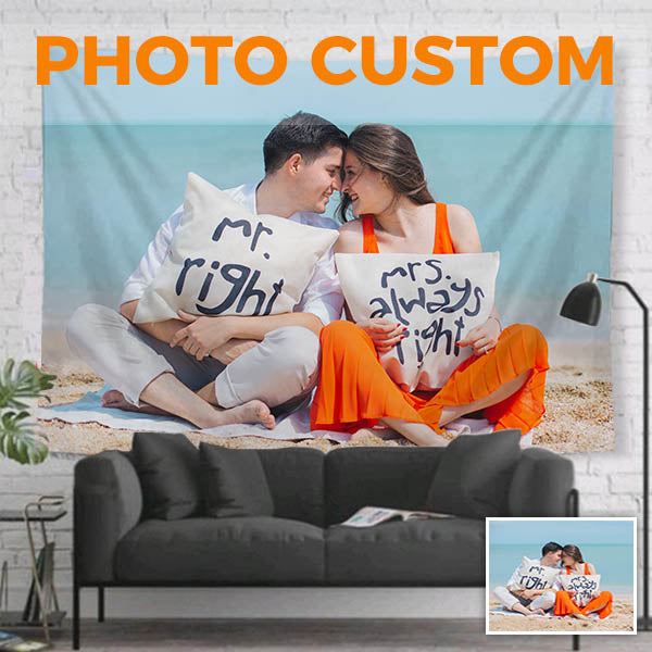 Custom Tapestry From Photo, Personalized Wall Tapestry Printing