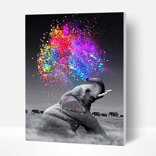Paint by Numbers Kit - Painting Elephant - BlingPainting