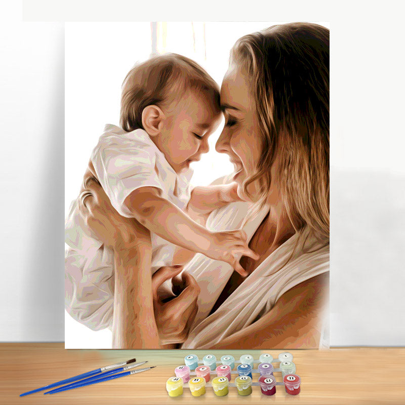 Paint by Number Kit - Customized Oil painting For Your Precious Memory