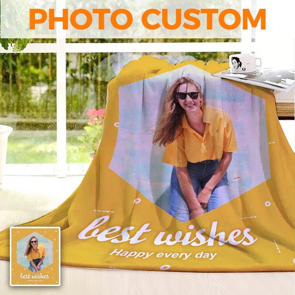 Custom Blankets From Photo - Personalized Blanket - BlingPainting