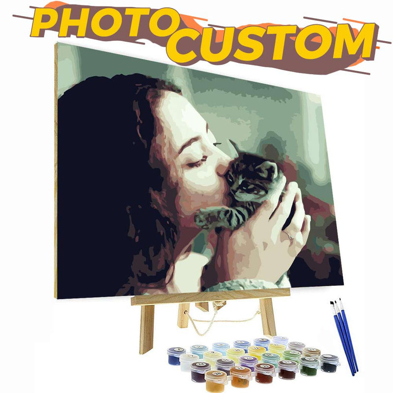 Paint by Number Kit - Customized Oil painting For Your Precious Memory - BlingPainting