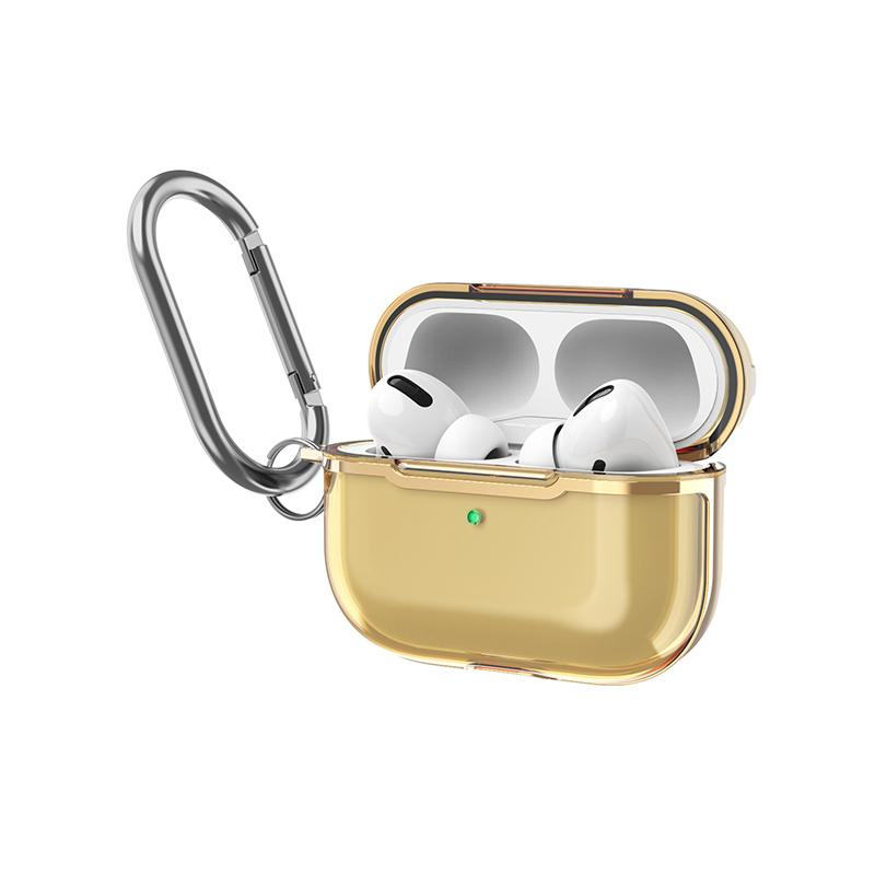 Apple AirPods Pro Case with Gold Frame - BlingPainting