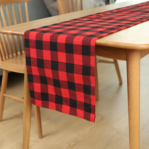 Christmas Plaid Table Runner - BlingPainting