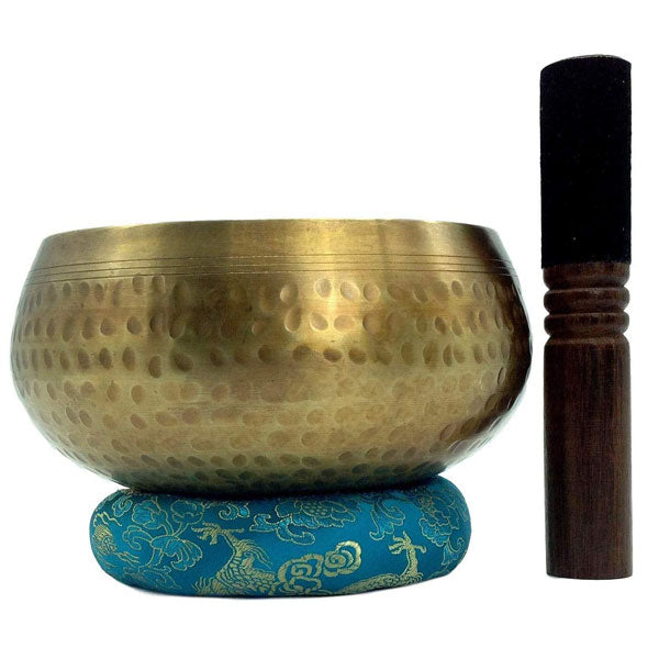 "Professional Tibetan Singing Bowl Set 3.5"" - Handcrafted in Nepal for Healing - BlingPainting"