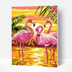 Paint by Numbers Kit - Beautiful Flamingo - BlingPainting