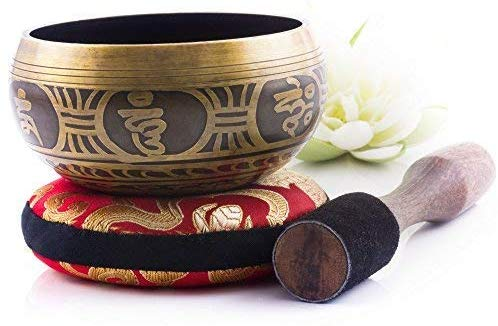 Tibetan Singing Bowl Set — Meditation Sound Bowl Handcrafted in Nepal for Healing and Mindfulness 9/11/13/15cm - BlingPainting