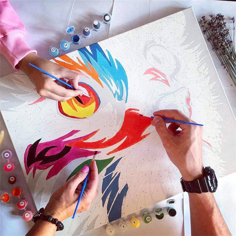 Paint by Number Kit - Colorful Peacock - BlingPainting