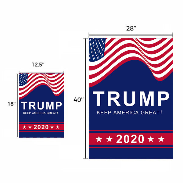 Donald Trump for President 2020 Garden Flag House Flag