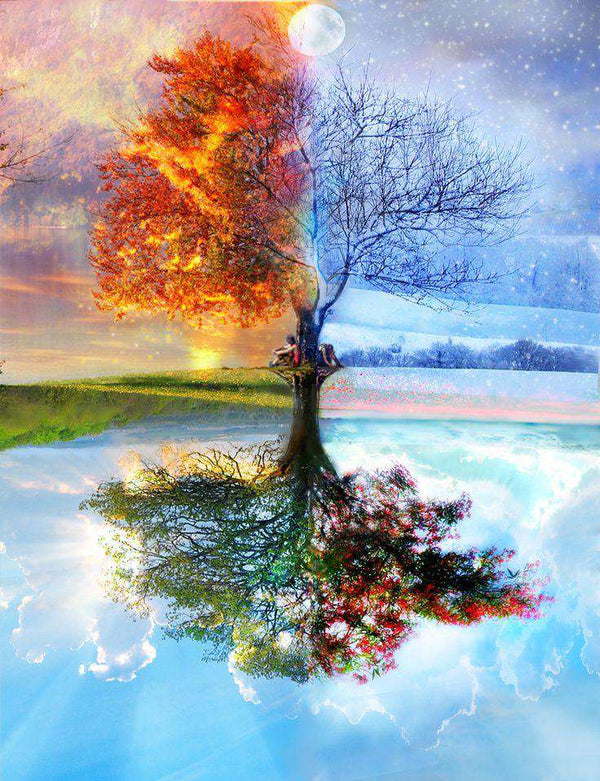[Hot Sale] Colorful Tree Of Life In Seasons - BlingPainting