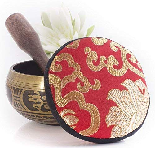 Tibetan Singing Bowl Set 13cm— Handcrafted in Nepal for Meditation - BlingPainting