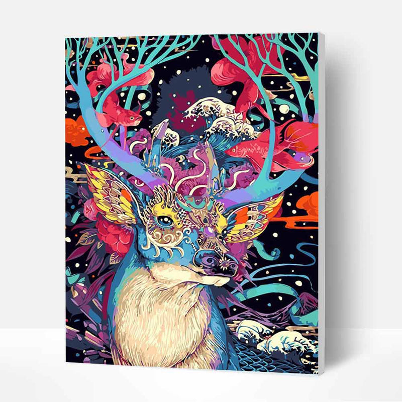 Paint by Number Kit   -- Mysterious Deer - BlingPainting