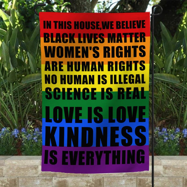 Black Lives Matter Garden Flag/House Flag E - BlingPainting