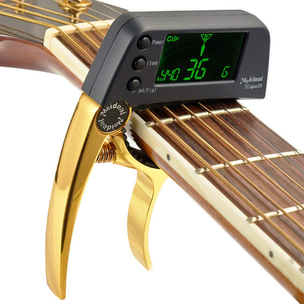 TCapo20 Guitar Capo Tuner, for Bass Acoustic Electric Guitar Chromatic Professional Change Key - BlingPainting