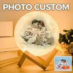 Customized 3D Moon Lamp with Your Own Picture