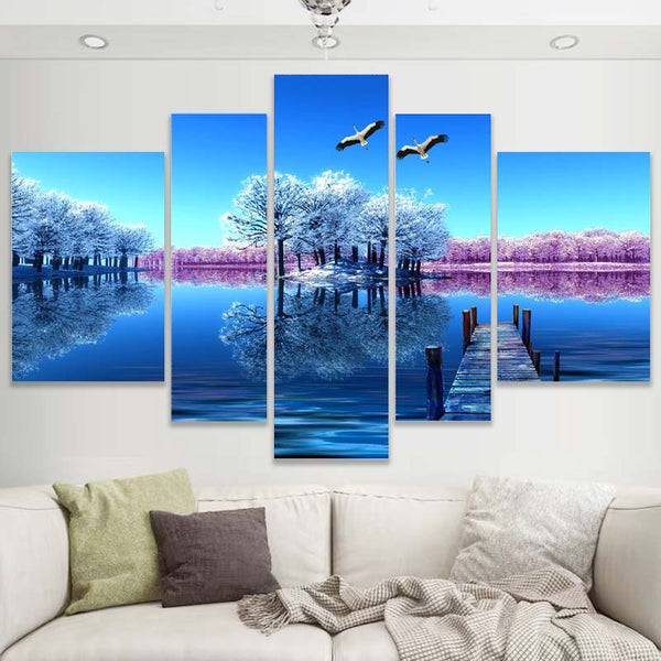 5 Pieces HD Multi Panel Wall Art  Canvas Painting - Wall Picture Canvas Prints - BlingPainting