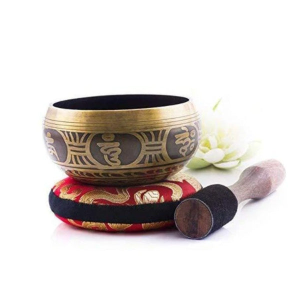 Tibetan Singing Bowl Set 11cm— Handcrafted in Nepal for Meditation - BlingPainting