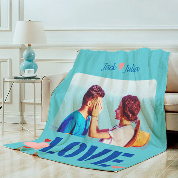Custom Photo Blanket - personalized picture blanket
