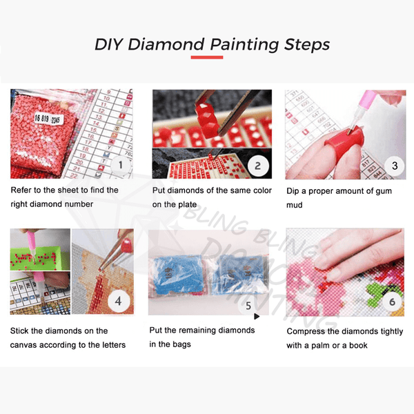 DIY Diamond Painting step by step