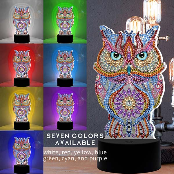 DIY Special Shaped Diamond Painting LED Night Light - BlingPainting