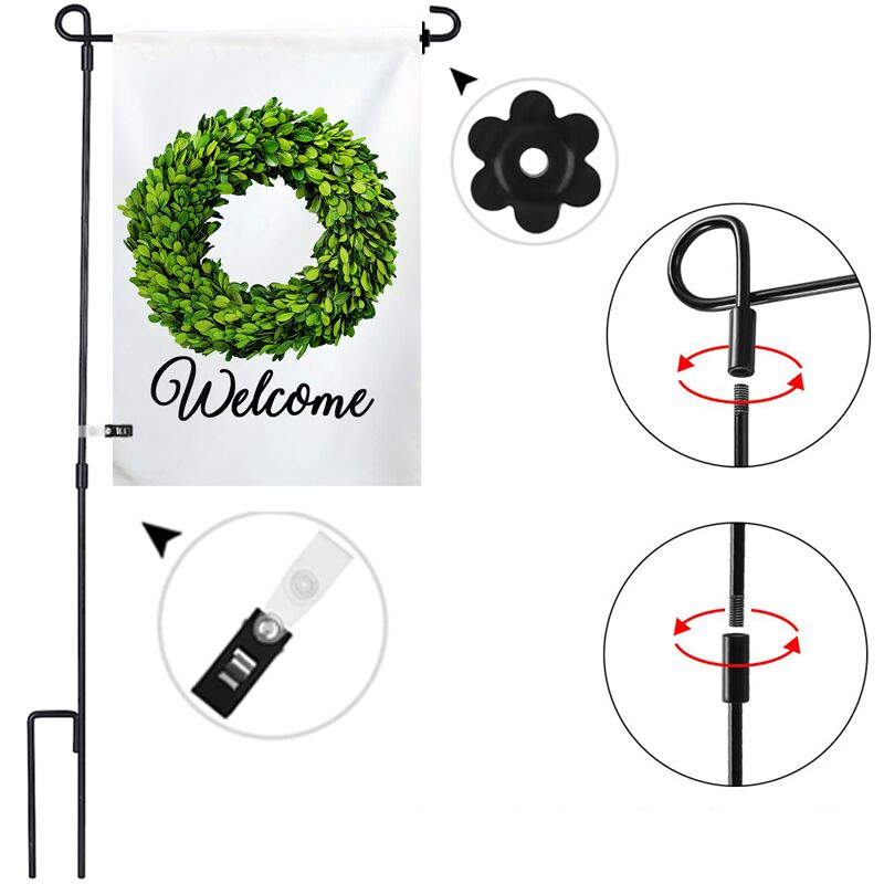 Garden Flag Stand Pole - BlingPainting