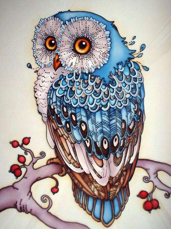 [Hot Sale] Blue Owl 5D Diamond Painting Kit - BlingPainting