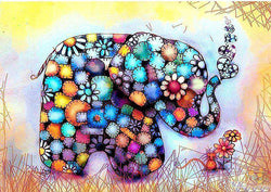 Colorful Elephant 5D - BlingPainting