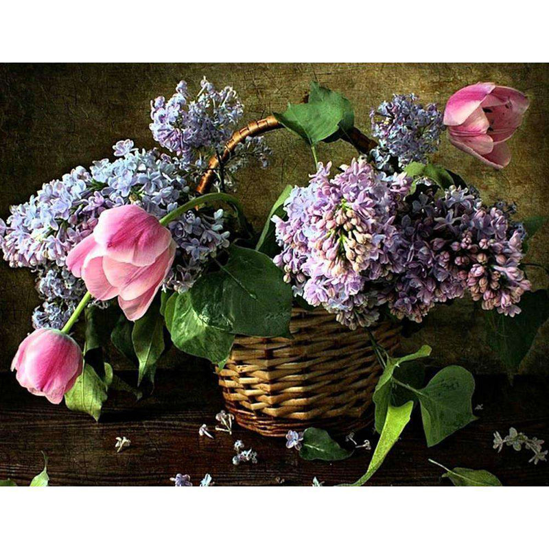 Flower Baskets - BlingPainting