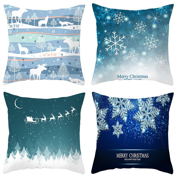 Throw Pillow Covers For Christmas 18x18 Inch