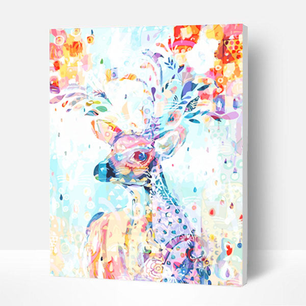 Paint by Numbers Kit -  Painted Fawn - BlingPainting