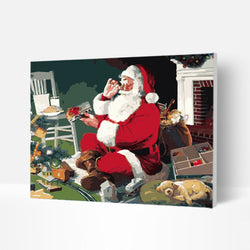 Christmas Paint by Numbers Kit - Santa Chooses Gifts