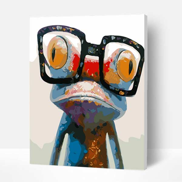 Paint by Numbers Kit -Glasses Frog - BlingPainting