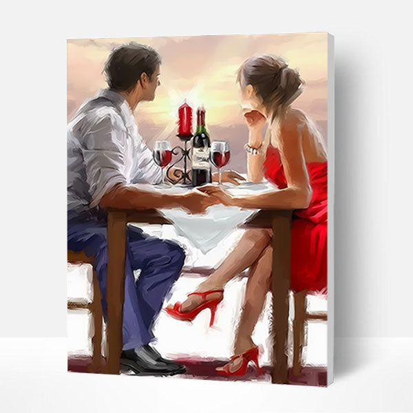 Paint by Numbers Kit - Romantic Dinner - BlingPainting