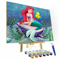 Paint by Numbers Kit - The Little Mermaid - BlingPainting