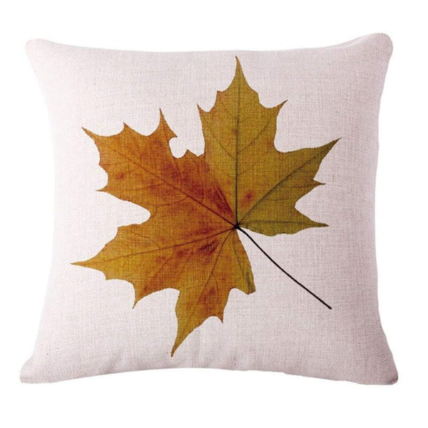 Fall Decor Linen Maple Leaf Throw Pillow - BlingPainting